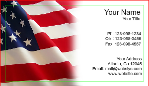 [Image: Patriotic Business Card]