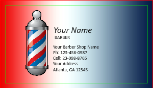 Barber Shop Business Cards DesignsnPrint - Barber business card template