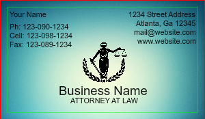 [Image: Legal Business Card Template with Professional Design]