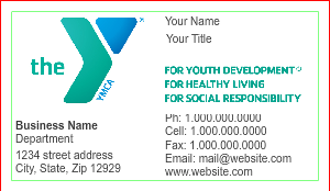 [Image: checkout with YMCA Business Card Design]