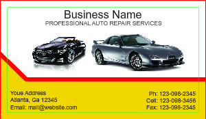 [Image: Auto Paint Business card]