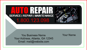 Auto Repair Business Card Templates DesignsnPrint - Mechanic business cards templates free