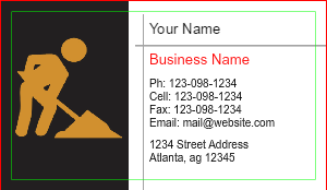 [Image: Construction Business Card Template]