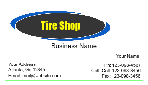 [Image: Tire repair Business Cards]