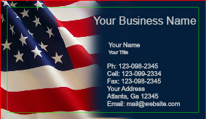 [Image: American Flag Business Card]
