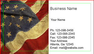 [Image: Army Business Card]