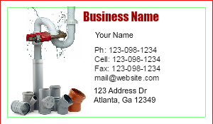 [Image: Plumbing Business Card Designs - Make Business Cards Online]
