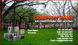 [Image: Heating and Air Business card]