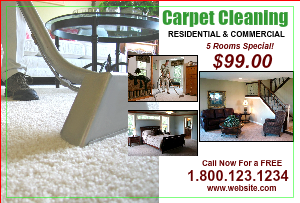 [Image: Carpet Cleaning Rug & Upholstery Postcard]