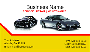[Image: checkout with Automotive Business Card]