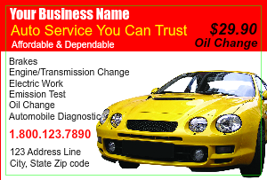 [Image: checkout with Automotive Repair Marketing Postcard ]
