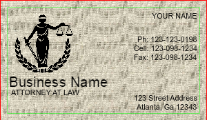 [Image: Business Card Template For Legal Service]