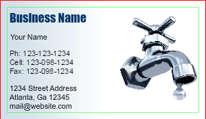 [Image: Plumber Business Card Template]
