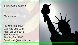[Image: Lady Liberty l Business card]