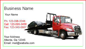 [Image: Towing Business Cards]