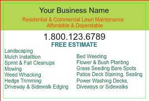 [Image: Commercial Lawn Care Flyer]