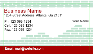 [Image: Independent Contractor Business Cards Design]