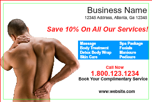 [Image: checkout with Massage & Spa Postcard Marketing]