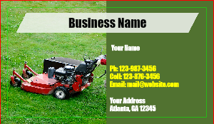 [Image: Landscaping Business Card Template]