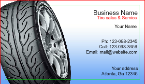 [Image: checkout with Tire shop Business card Design]