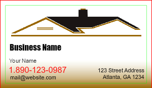 [Image: Roofing Business Cards]