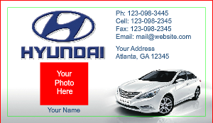 [Image: checkout with Hyundai Business Cards]