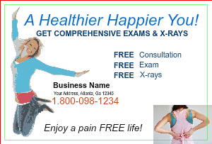 [Image: checkout with Chiropractic Postcard Template]