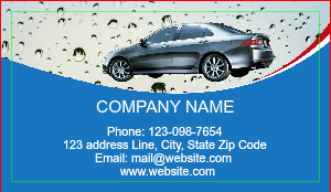 [Image: Auto Detailing Car Wash Business Card]