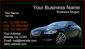 [Image: checkout with Car Salesman Business Card]