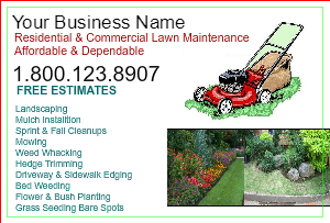 [Image: Lawn Mowing Flyer Design]