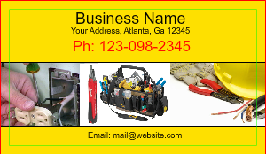 Electrical Services Business Card