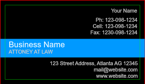 [Image: Professional Creative Black Business Card For Attorney]