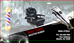 Barber shop business cards templates zazzle barbershop business barber shop business cards designsnprint barber business card template wajeb Image collections