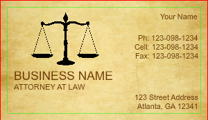 [Image: Attorney Business Card Design Online]