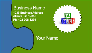 [Image: Daycare Business Card Designs]