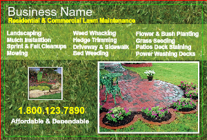 [Image: lawn care flyer templates]