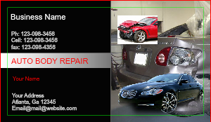 [Image: Auto Body Repair Business Cards]