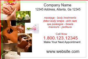 [Image: Spa and Massage Postcard Template]