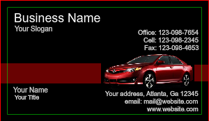 [Image: checkout with Auto Dealer Business Cards]