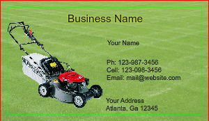 [Image: Lawn Care Business Card]
