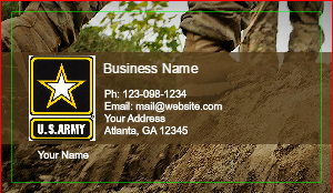 [Image: USA Military Business cards]
