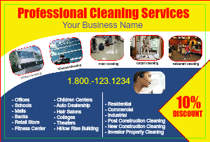 [Image: Cleaning Service Postcards]