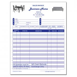 [Image: Furniture Invoice - Receipts - Carbonless Forms]