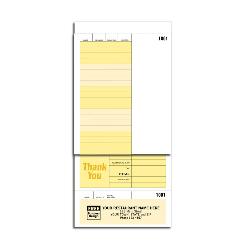 [Image: Custom Guest Checks]
