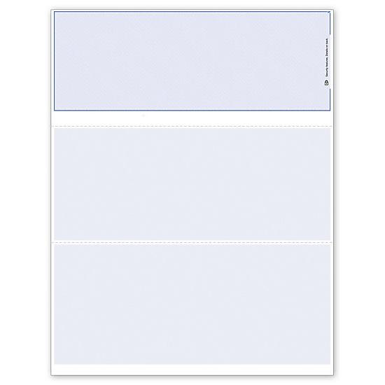 [Image: Blank Check Paper With Security Features, Blank Business Checks]