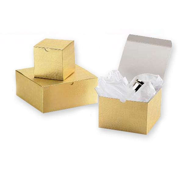 [Image: Linen-foil One-piece Gift Boxes]
