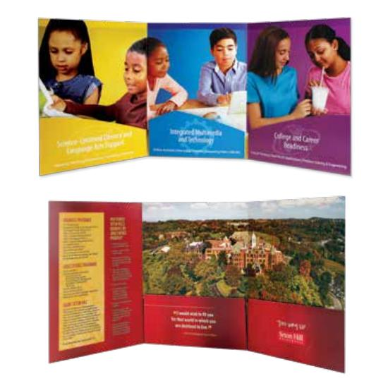 [Image: Tri Panel Presentation Folders, Tri Fold Pocket Folders Custom Printed]