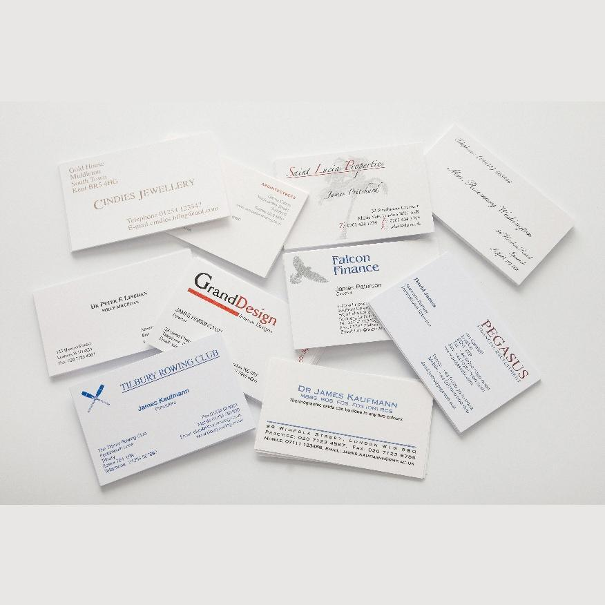 [Image: Raised Ink Thermograph Business Cards]