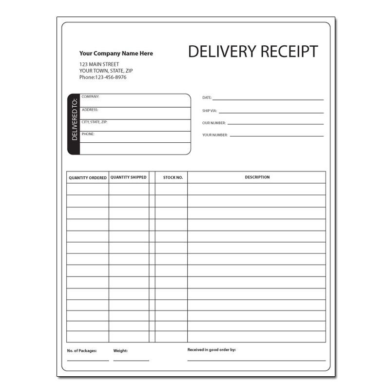 Delivery And Courier Invoice  Hand Delivery Receipt Template
