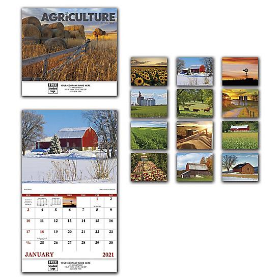 [Image: 2021 Agriculture Wall Calendar, Printed, Personalized]